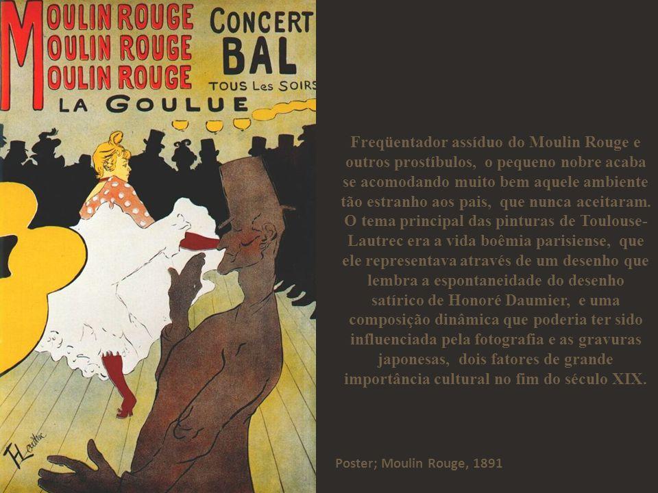 Toulouse-Lautrec sofria de uma doença desconhecida em sua época.