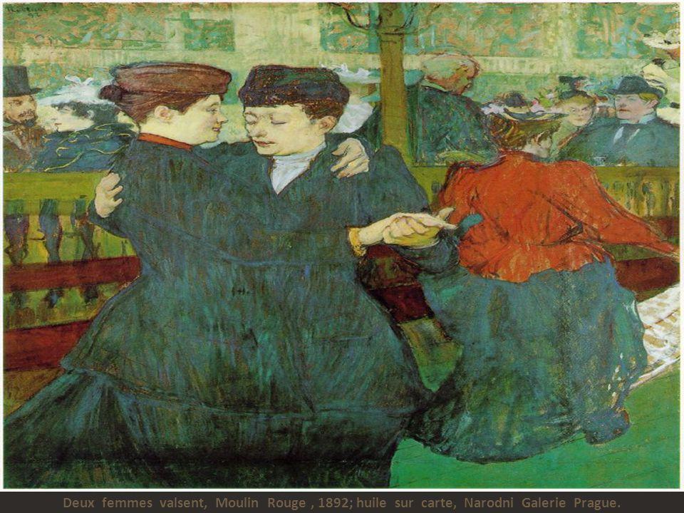 Les deux petites amies, 1894; huile sur carte, Toulouse- Lautrec