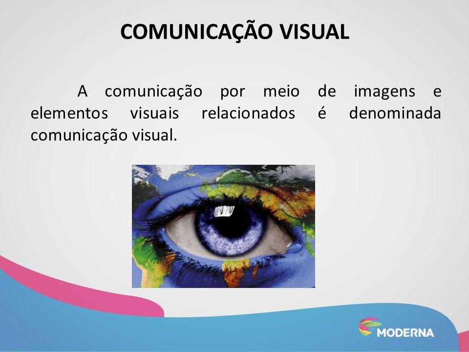 COMUNICAÇÃO VISUAL A comunicação por meio de imagens e elementos visuais relacionados é denominada comunicação visual.