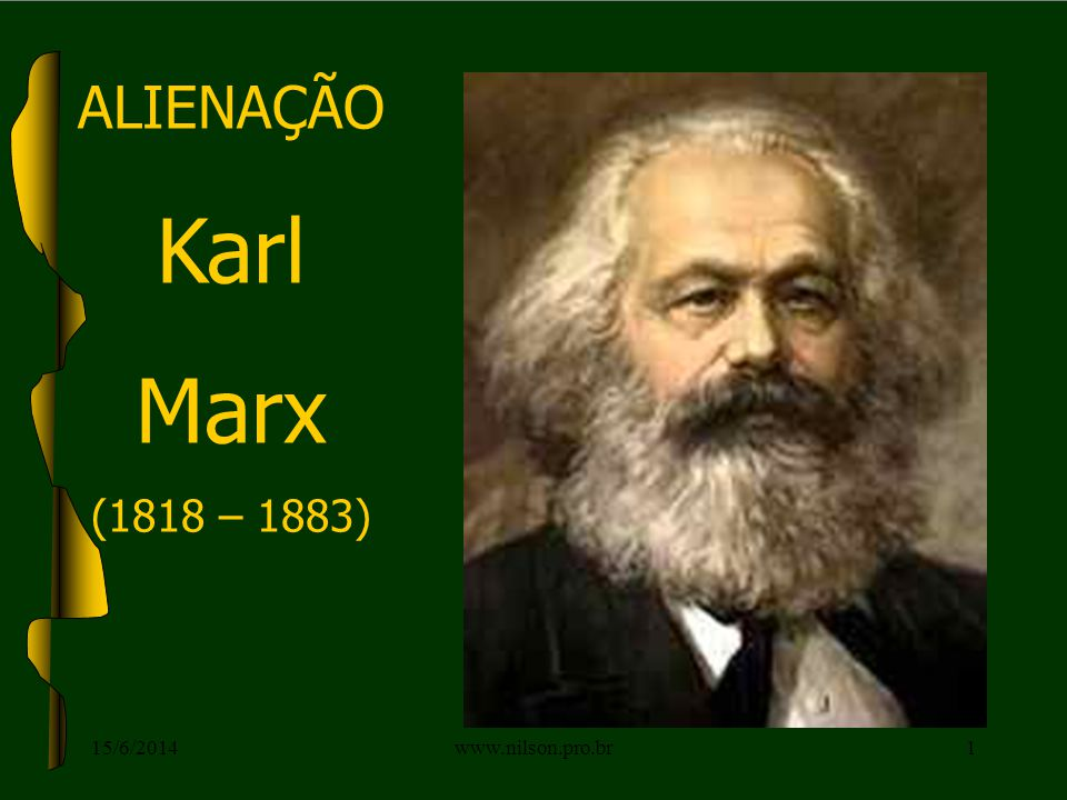 ALIENAÇÃO Karl Marx (1818 – 1883) 15/6/20141www.nilson.pro.br