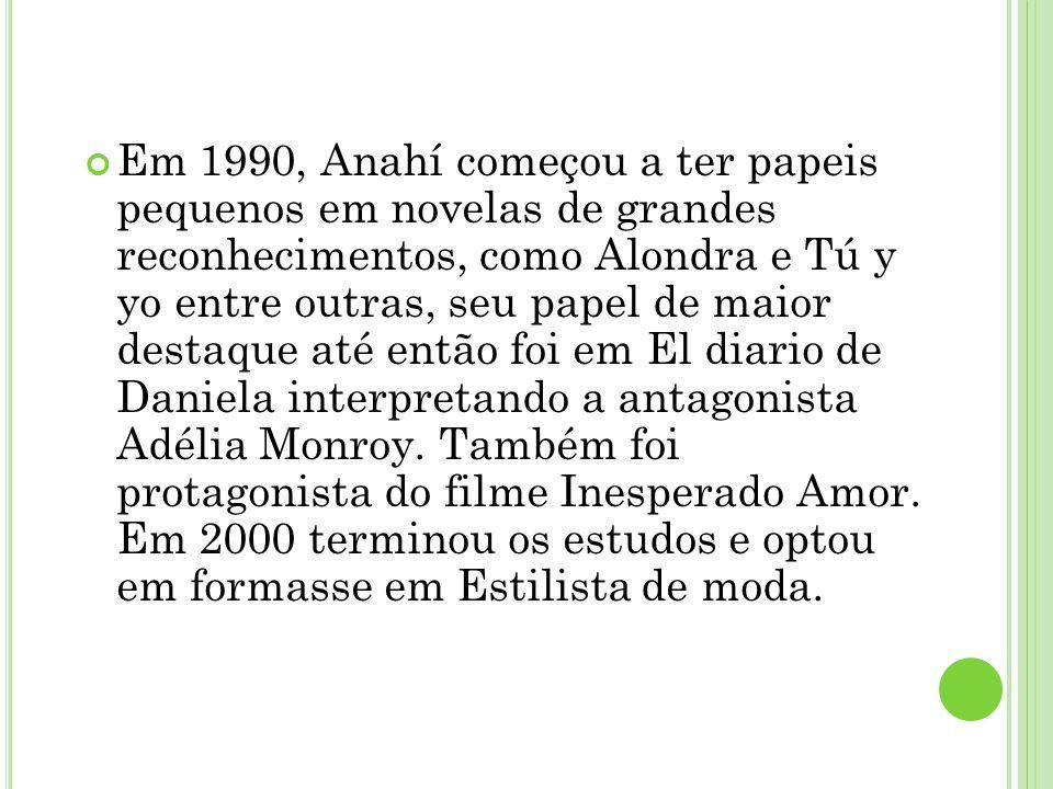 Ú LTIMO TRABALHO Atualmente, Anahí se dedica à carreira de cantora e seu último trabalho foi o disco Mi Delírio (2009), que já chega cercado de muita expectativa por parte de fãs.