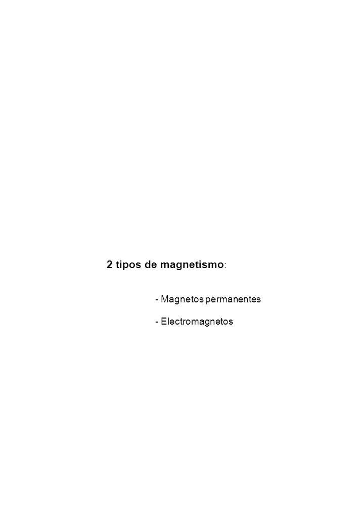 2 tipos de magnetismo : - Magnetos permanentes - Electromagnetos