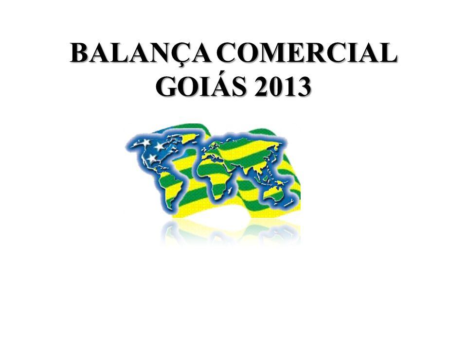 BALANÇA COMERCIAL GOIÁS 2013
