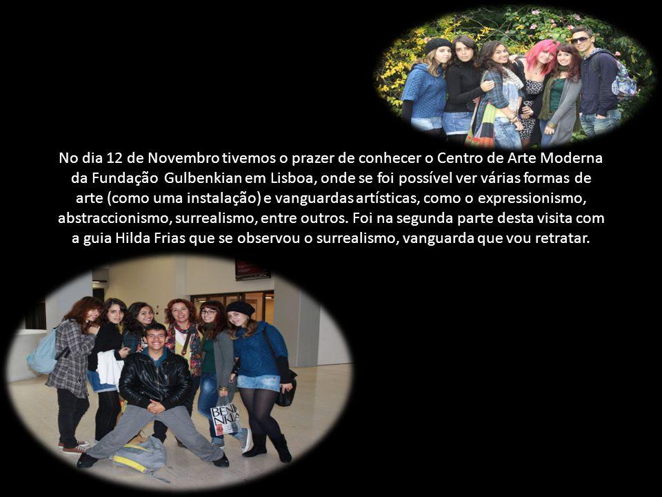 No dia 12 de Novembro tivemos o prazer de conhecer o Centro de Arte Moderna da Fundação Gulbenkian em Lisboa, onde se foi possível ver várias formas d