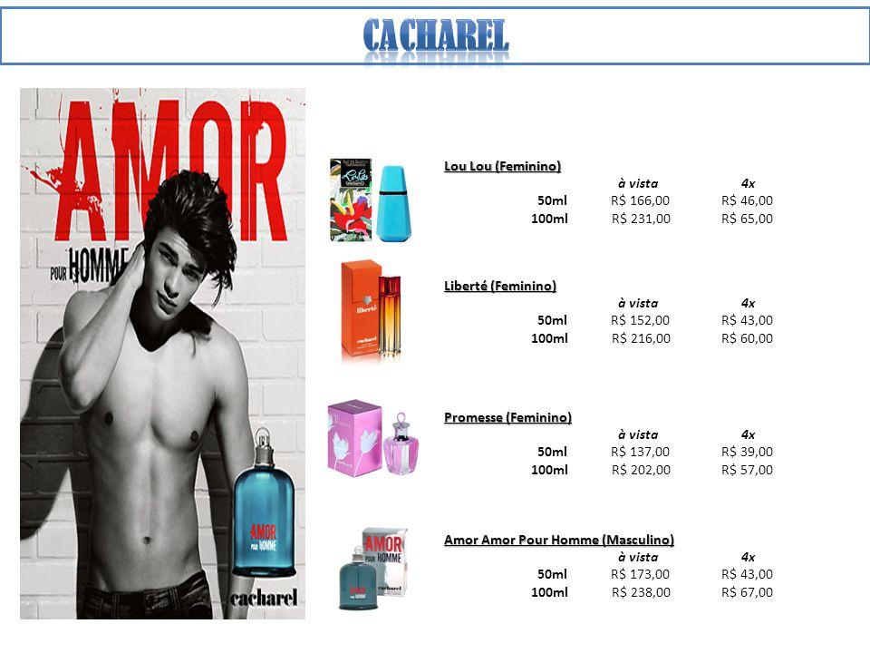 Light Blue (Masculino) à vista 4x 75ml R$ 177,00 R$ 50,00 125ml R$ 245,00 R$ 69,00 Dolce & Gabbana (Masculino) à vista 4x 75ml R$ 184,00 R$ 52,00 125ml R$ 252,00 R$ 70,00 The One (Masculino) à vista 4x 50ml R$ 188,00 R$ 53,00 100ml R$ 249,00 R$ 70,00