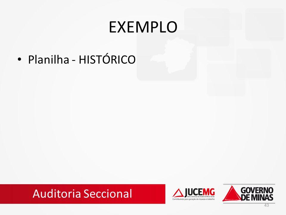 43 EXEMPLO Planilha - HISTÓRICO Auditoria Seccional