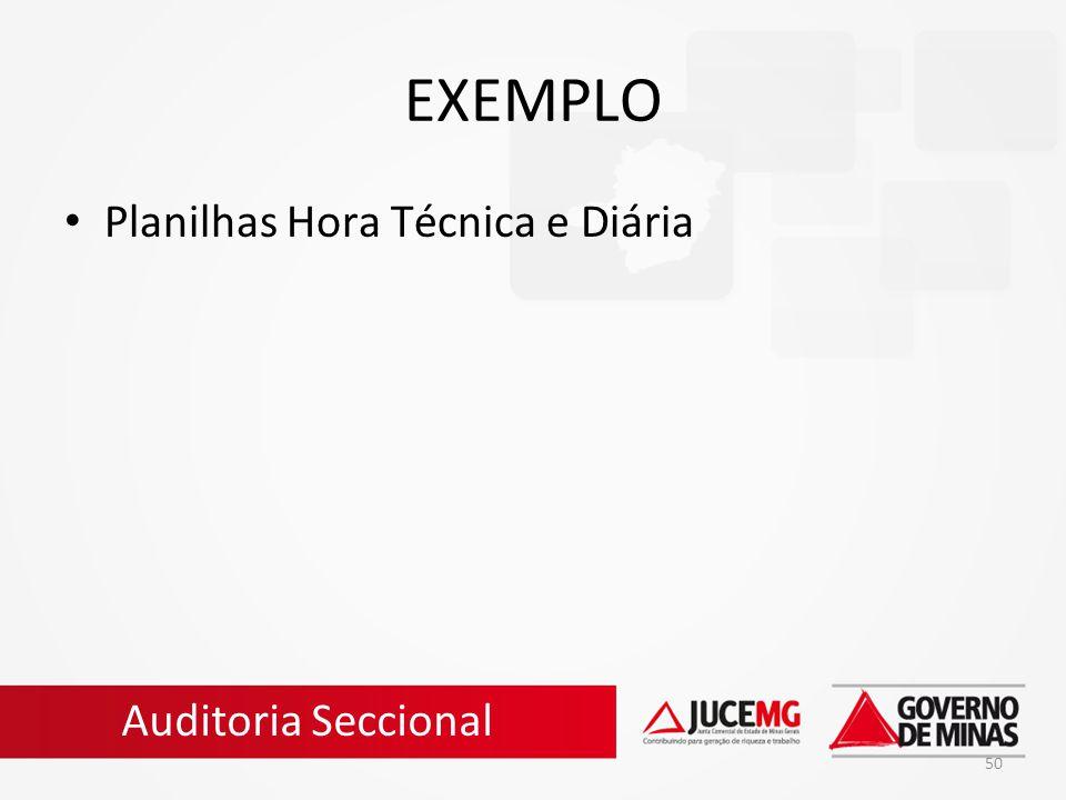 50 EXEMPLO Planilhas Hora Técnica e Diária Auditoria Seccional