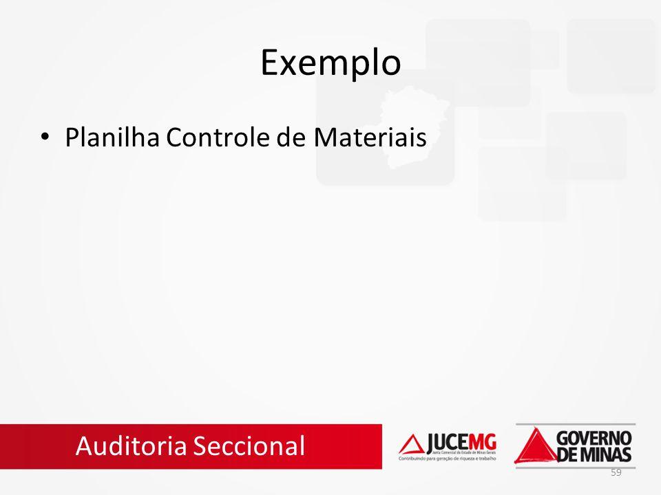 59 Exemplo Planilha Controle de Materiais Auditoria Seccional