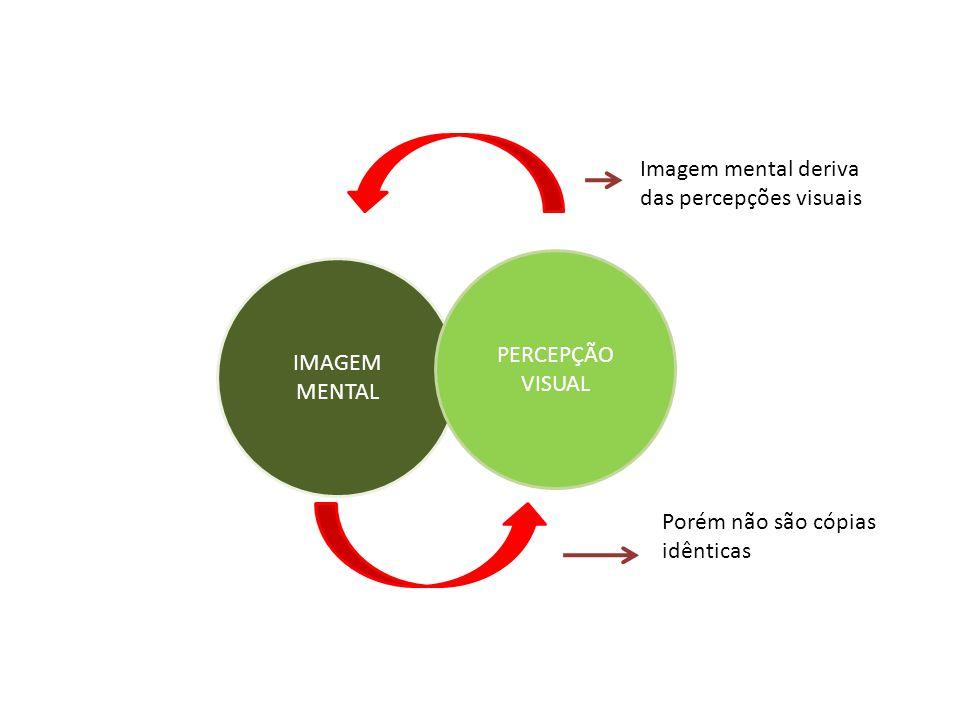 IMAGEM MENTAL PERCEPÇÃO VISUAL Imagem mental deriva das percepções visuais Porém não são cópias idênticas