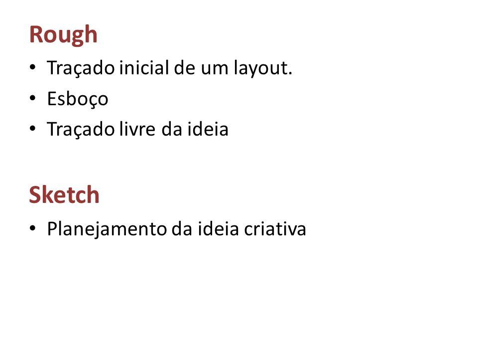 Rough Traçado inicial de um layout. Esboço Traçado livre da ideia Sketch Planejamento da ideia criativa