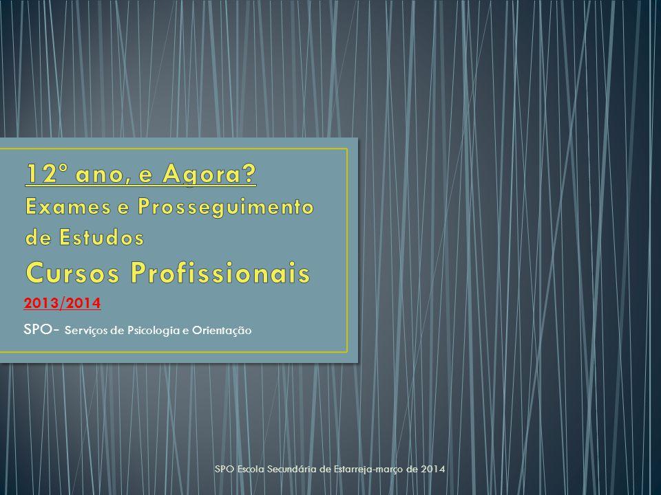 2013/2014 SPO - Serviços de Psicologia e Orientação SPO Escola Secundária de Estarreja-março de 2014
