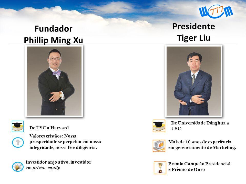 Fundador Phillip Ming Xu Valores cristãos: Nossa prosperidade se perpetua em nossa integridade, nossa fé e diligência.