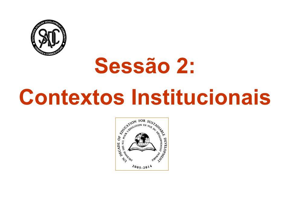 Sessão 2: Contextos Institucionais