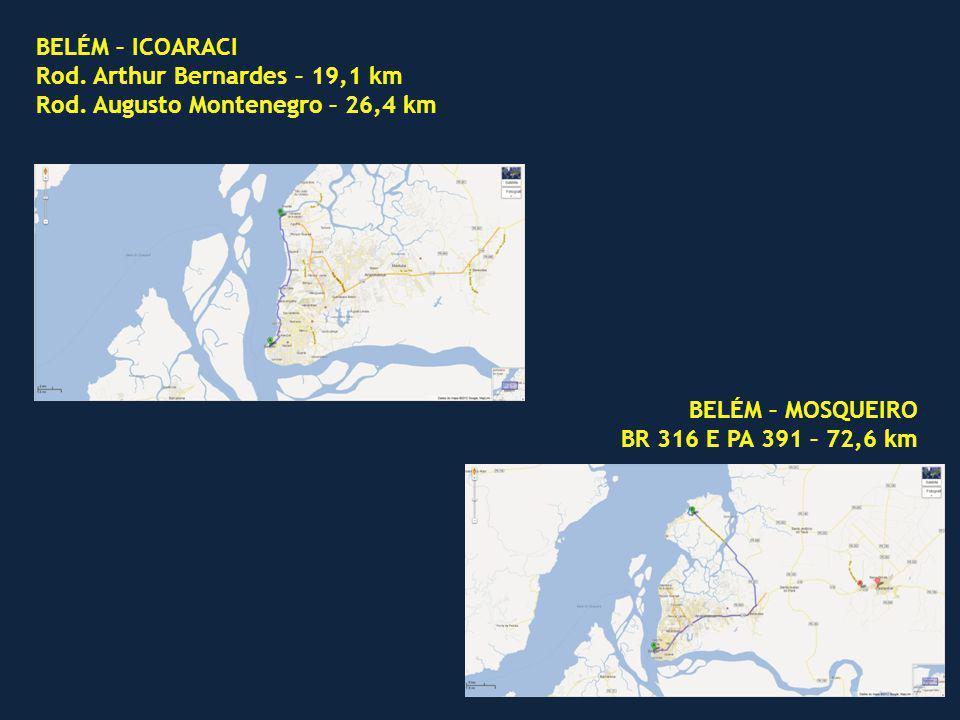 BELÉM – ICOARACI Rod.Arthur Bernardes – 19,1 km Rod.