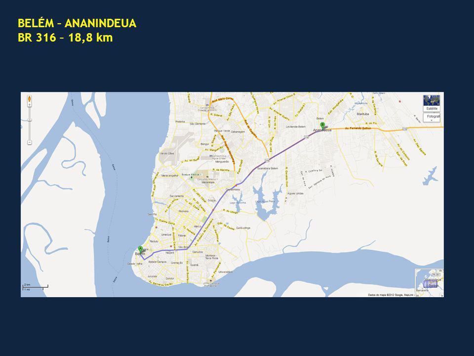BELÉM – ANANINDEUA BR 316 – 18,8 km