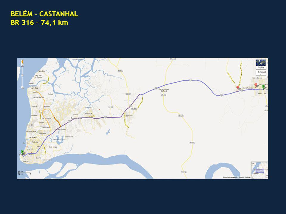 BELÉM – CASTANHAL BR 316 – 74,1 km