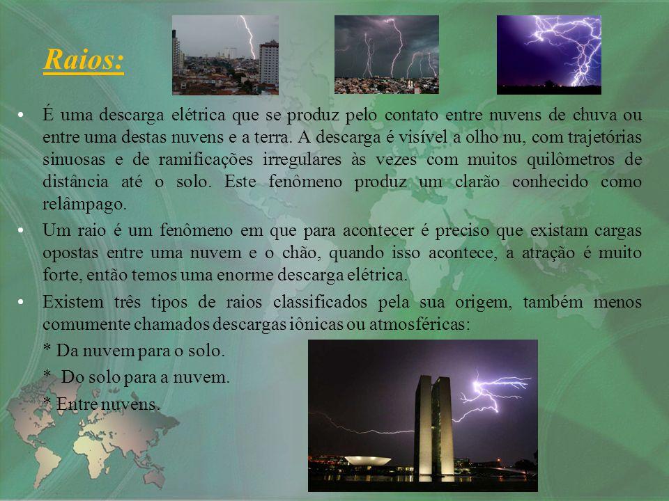 É uma descarga elétrica que se produz pelo contato entre nuvens de chuva ou entre uma destas nuvens e a terra. A descarga é visível a olho nu, com tra