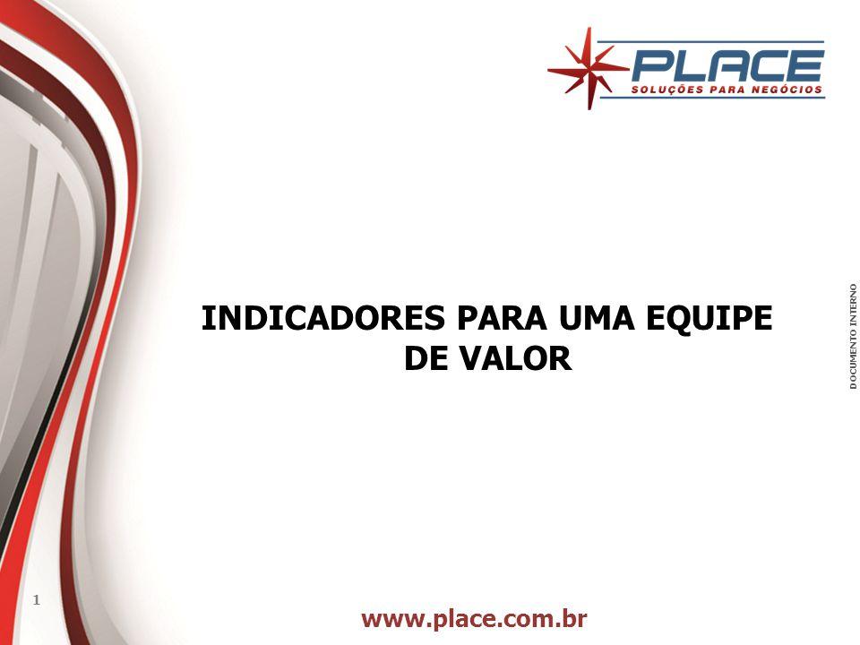 www.place.com.br 1 DOCUMENTO INTERNO INDICADORES PARA UMA EQUIPE DE VALOR