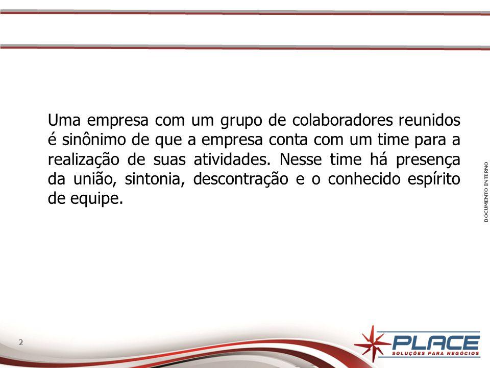 DOCUMENTO INTERNO 2 2 Uma empresa com um grupo de colaboradores reunidos é sinônimo de que a empresa conta com um time para a realização de suas ativi
