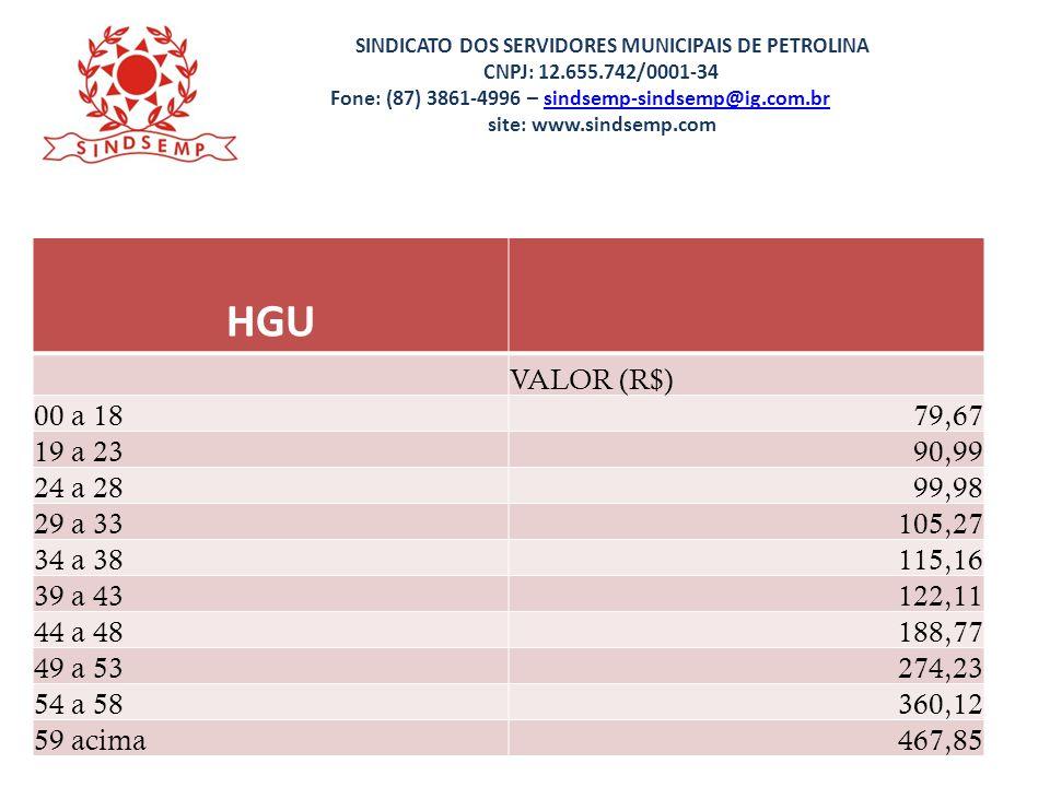 SINDICATO DOS SERVIDORES MUNICIPAIS DE PETROLINA CNPJ: 12.655.742/0001-34 Fone: (87) 3861-4996 – sindsemp-sindsemp@ig.com.br site: www.sindsemp.comsindsemp-sindsemp@ig.com.br FISCAIS DE TRANSPORTE COLETIVO Obs: A gratificação encontra-se congelada a mais de 7 anos IPCA Acumulado35,91% Valores atualizados pelo IPCA3.277,41