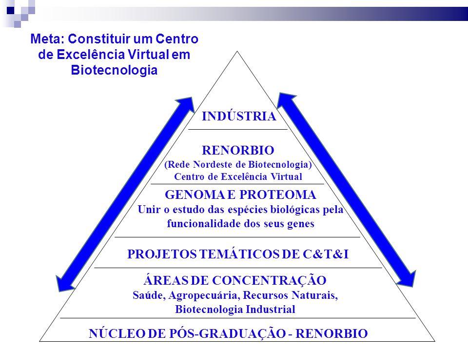 Acelerar o desenvolvimento do NE através da biotecnologia; Formar recursos humanos em biotecnologia; Produzir impactos socioeconômicos para melhorar a qualidade de vida no NE; Promover desenvolvimento científico nas diversas áreas de aplicação da biotecnologia; Contribuir para formulação e acompanha- mento de políticas públicas do NE.