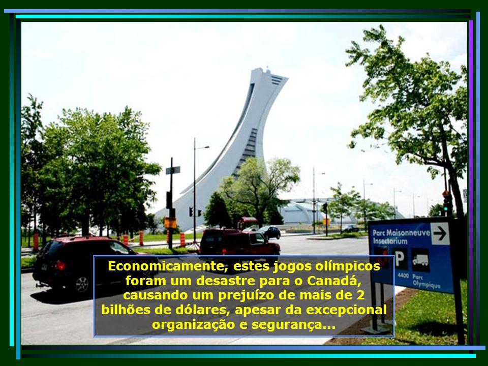Estádio Olímpico de Montreal, o qual serviu de sede dos jogos olímpicos no período de 17 de julho a 01 de agosto de 1976...
