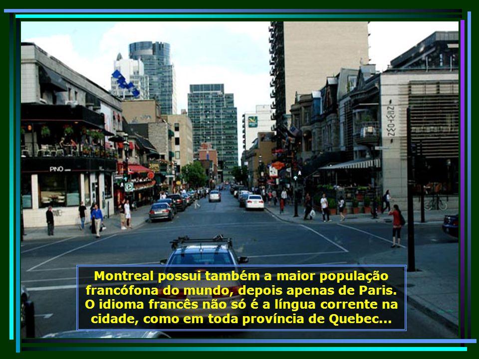 Montreal é uma belíssima cidade com lindos parques e jardins. O verde está por toda parte e tudo é muito bem cuidado...