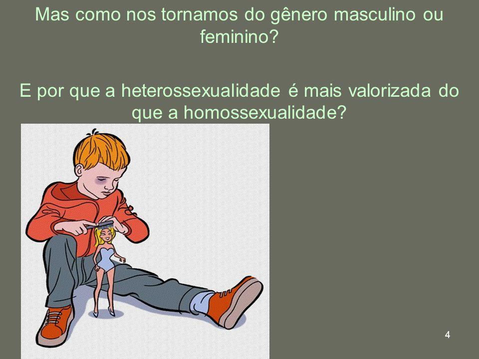 4 Mas como nos tornamos do gênero masculino ou feminino? E por que a heterossexualidade é mais valorizada do que a homossexualidade?