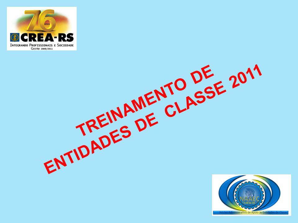 TREINAMENTO DE ENTIDADES DE CLASSE 2011