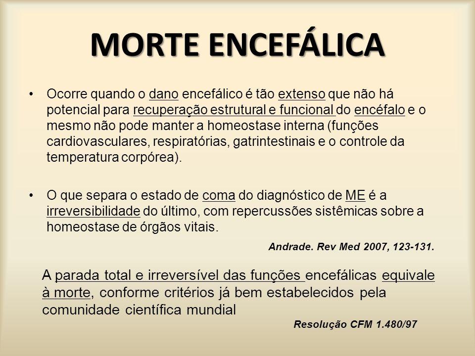 MORTE ENCEFÁLICA COMUNICAÇÃO OBRIGATÓRIA Lei 9.434/97 Art.