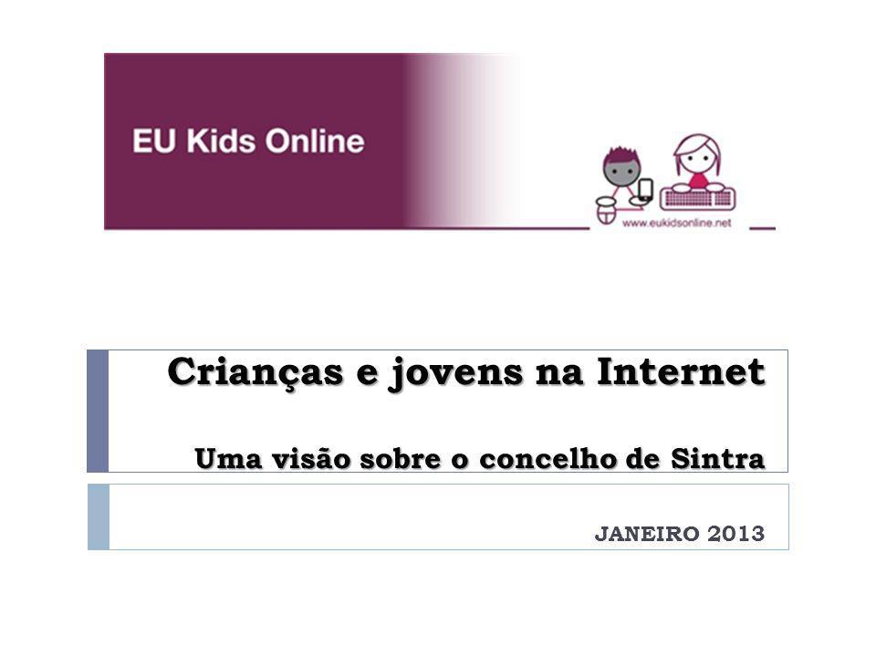 Crianças e jovens na Internet Uma visão sobre o concelho de Sintra JANEIRO 2013