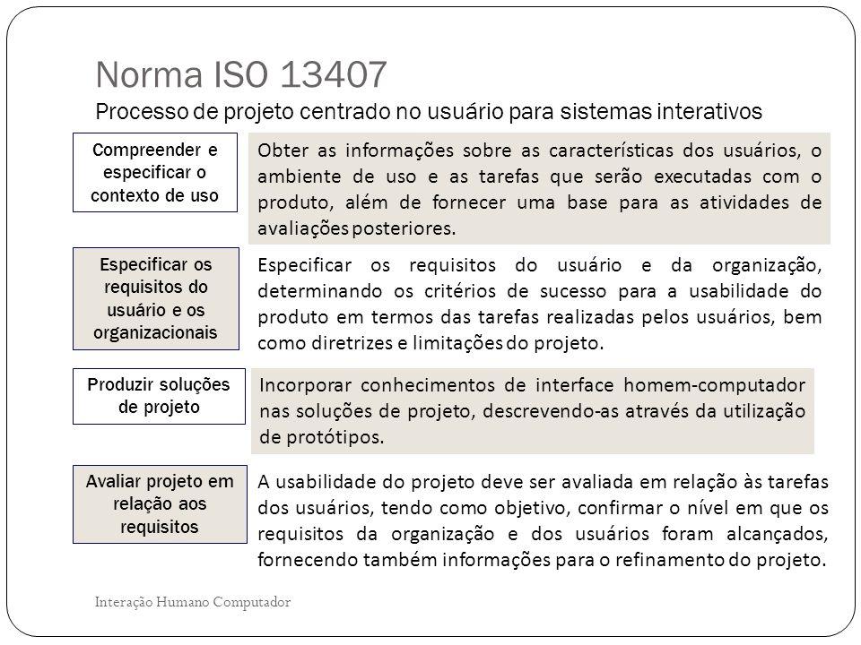 Interação Humano Computador O ciclo dessas atividades termina quando a avaliação do projeto em relação aos requisitos do usuário é executada com um resultado satisfatório.