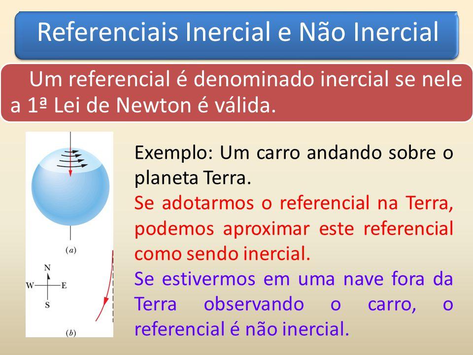 Referenciais Inercial e Não Inercial Um referencial é denominado inercial se nele a 1ª Lei de Newton é válida.