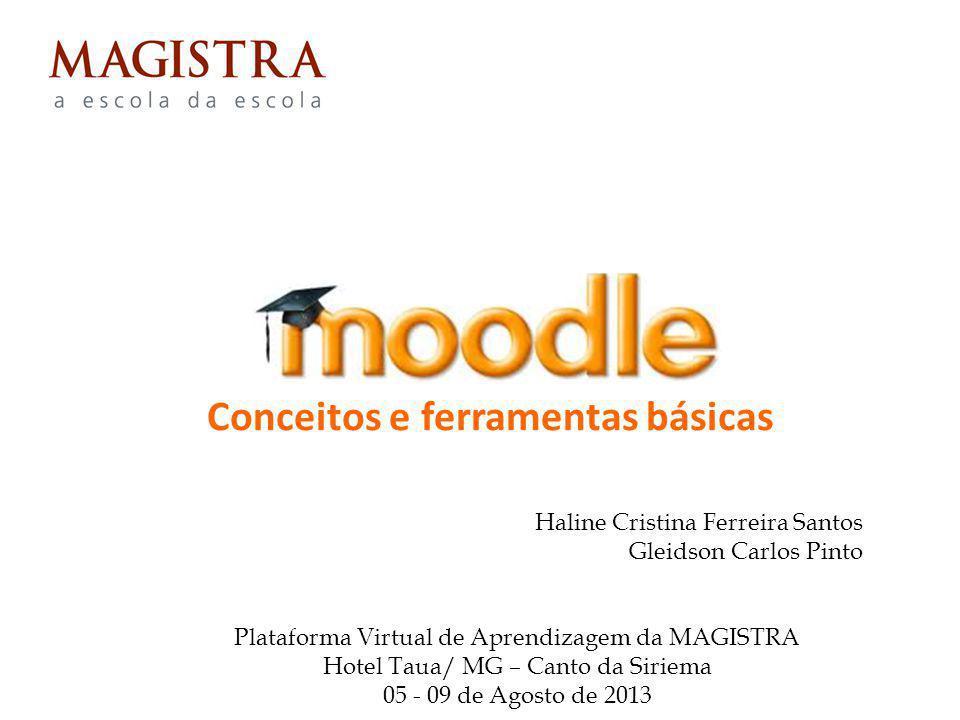 Conceitos e ferramentas básicas Haline Cristina Ferreira Santos Gleidson Carlos Pinto Plataforma Virtual de Aprendizagem da MAGISTRA Hotel Taua/ MG –