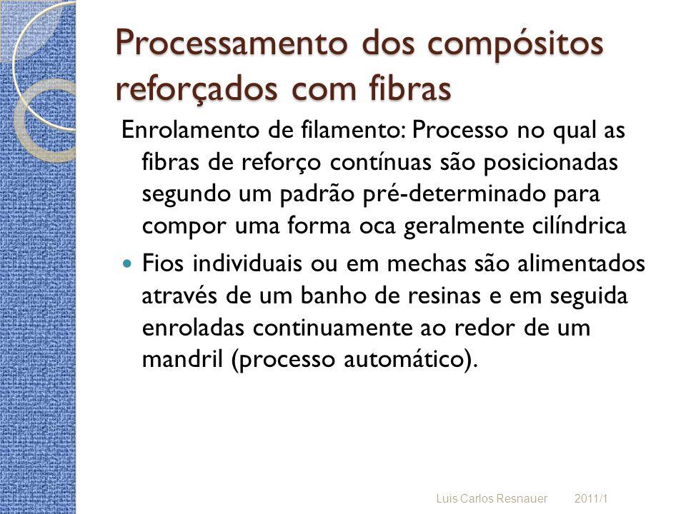 Enrolamento de filamento: Processo no qual as fibras de reforço contínuas são posicionadas segundo um padrão pré-determinado para compor uma forma oca