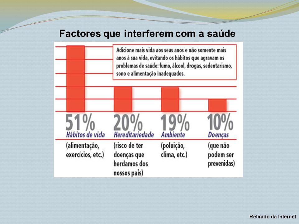 Factores que interferem com a saúde Retirado da Internet