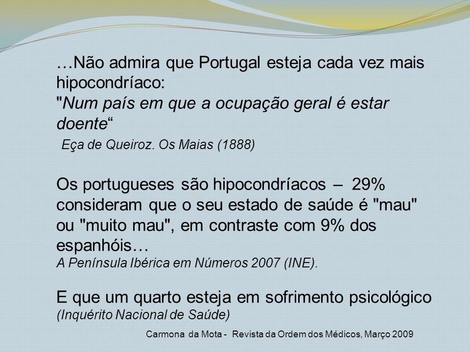 …Não admira que Portugal esteja cada vez mais hipocondríaco: