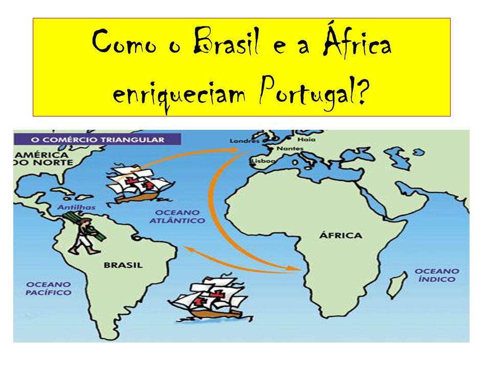 Como o Brasil e a África enriqueciam Portugal?