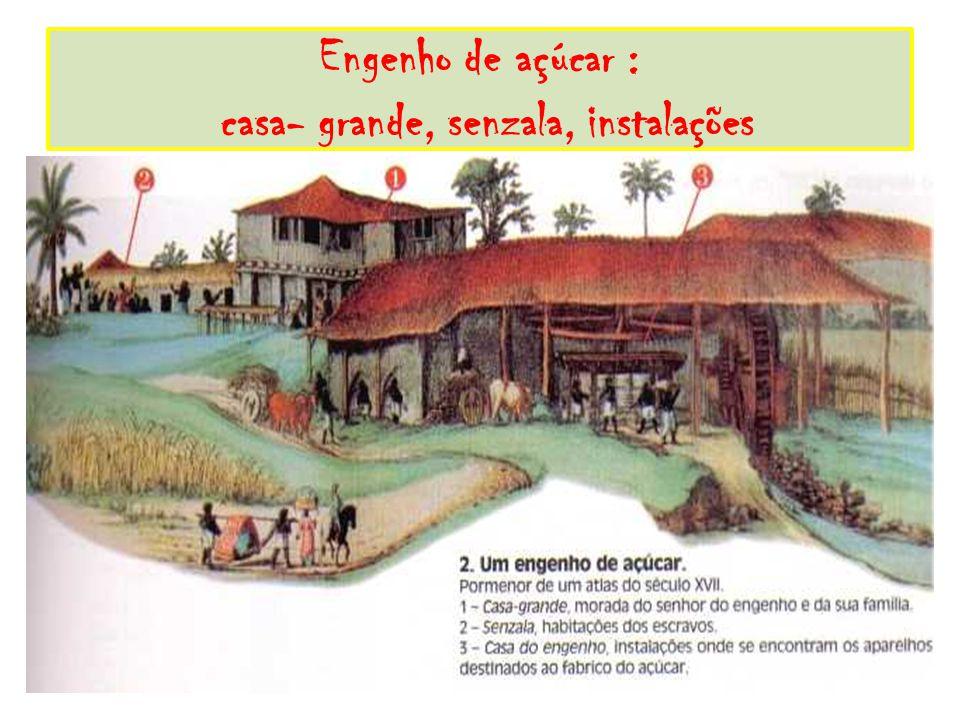 Engenho de açúcar : casa- grande, senzala, instalações