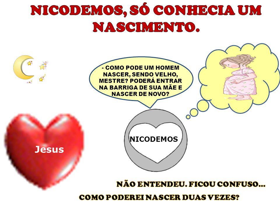 Disse mais: NICODEMOS Jesus Nicodemos falou coisas agradáveis para o Senhor, o chamou de