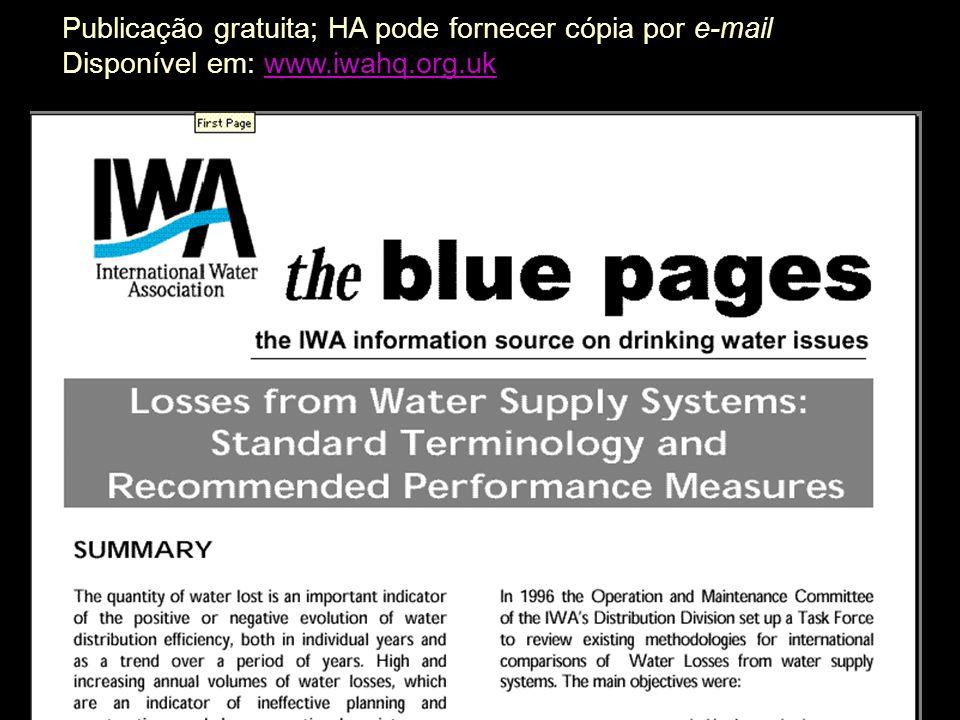 8 Revisão dos componentes de usos e destinos da água num sistema de abastecimento Convenções terminológicas utilizadas