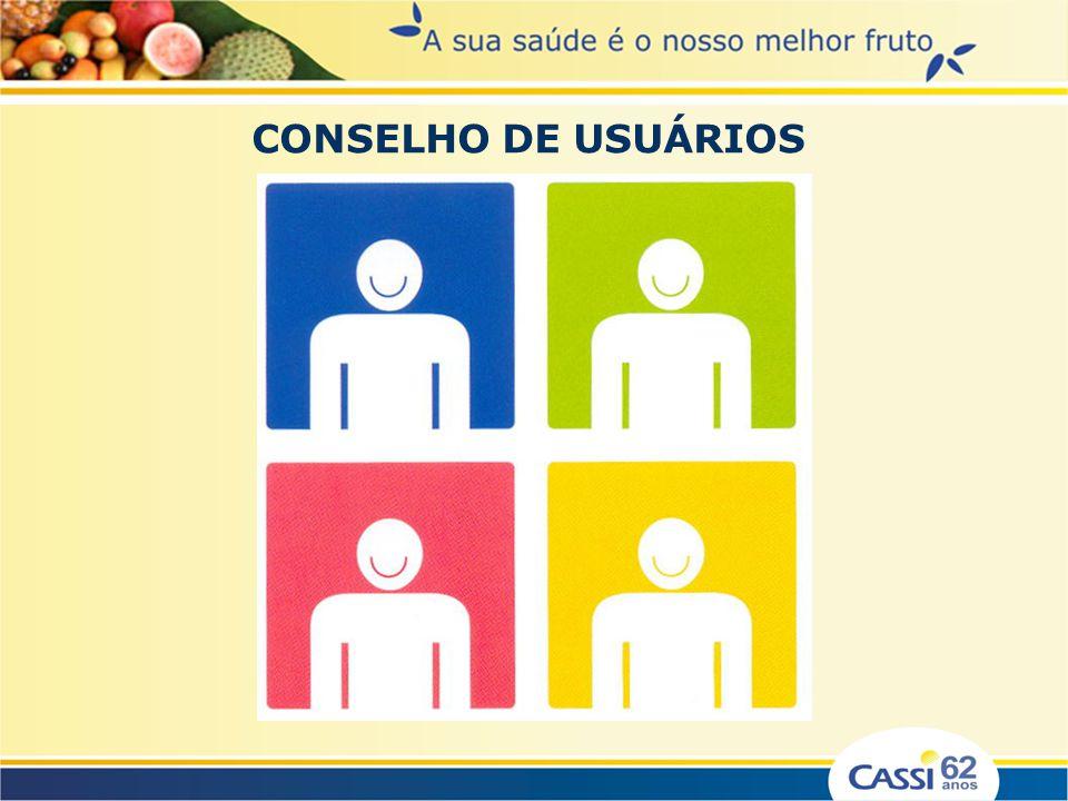 Os Conselhos de Usuários da CASSI são órgãos de âmbito local, criados em 1998 com função consultiva, eleitos em Conferências de Saúde, com mandato de dois anos, composto por representantes dos usuários, organizados em entidades ou não, e representantes da CASSI.