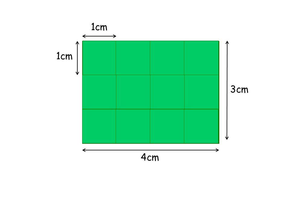 Então, usamos 12 quadradinhos de 1cm 2 cada.