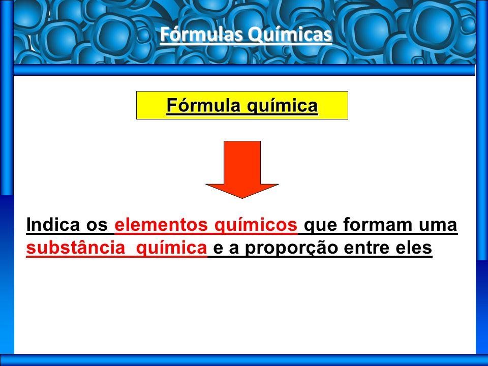 Fórmulas Químicas Tipos de fórmulas F Fórmula molecular órmula mínima órmula percentual