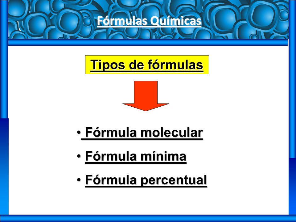 Fórmulas Químicas Fórmula molecular Indica Quais são os átomos e o número de cada um deles numa molécula.