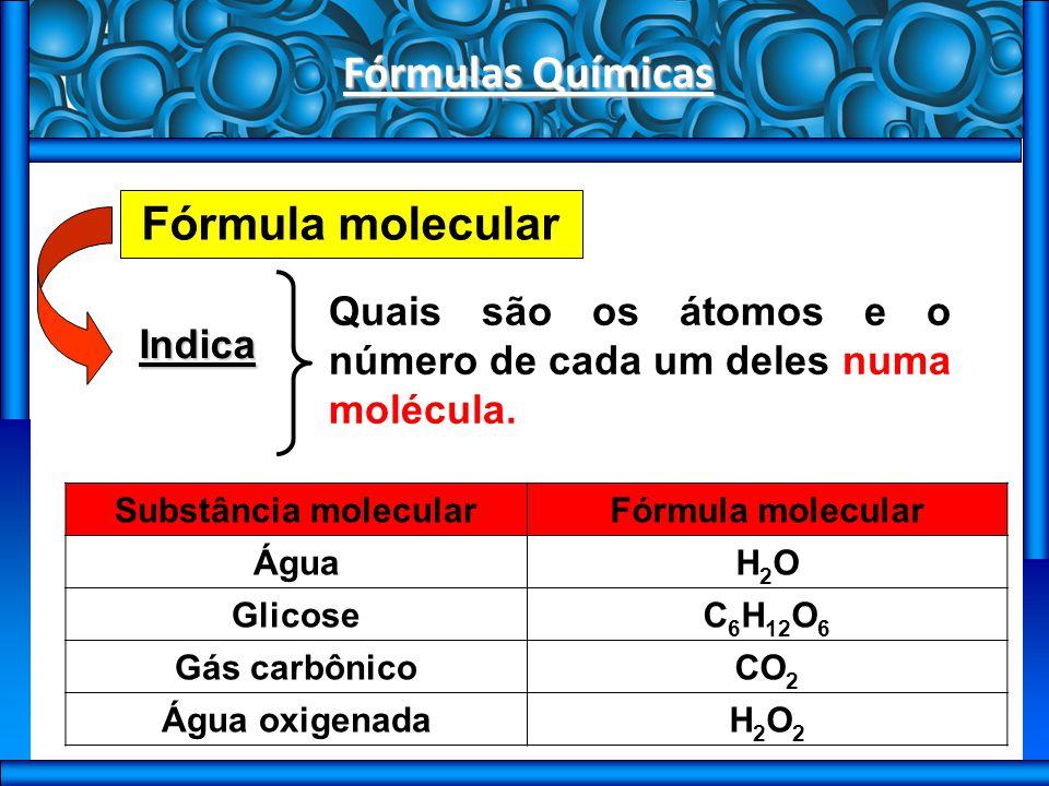 Fórmulas Químicas Fórmula mínima Indica A menor proporção inteira entre os átomos dos diferentes elementos na substância.
