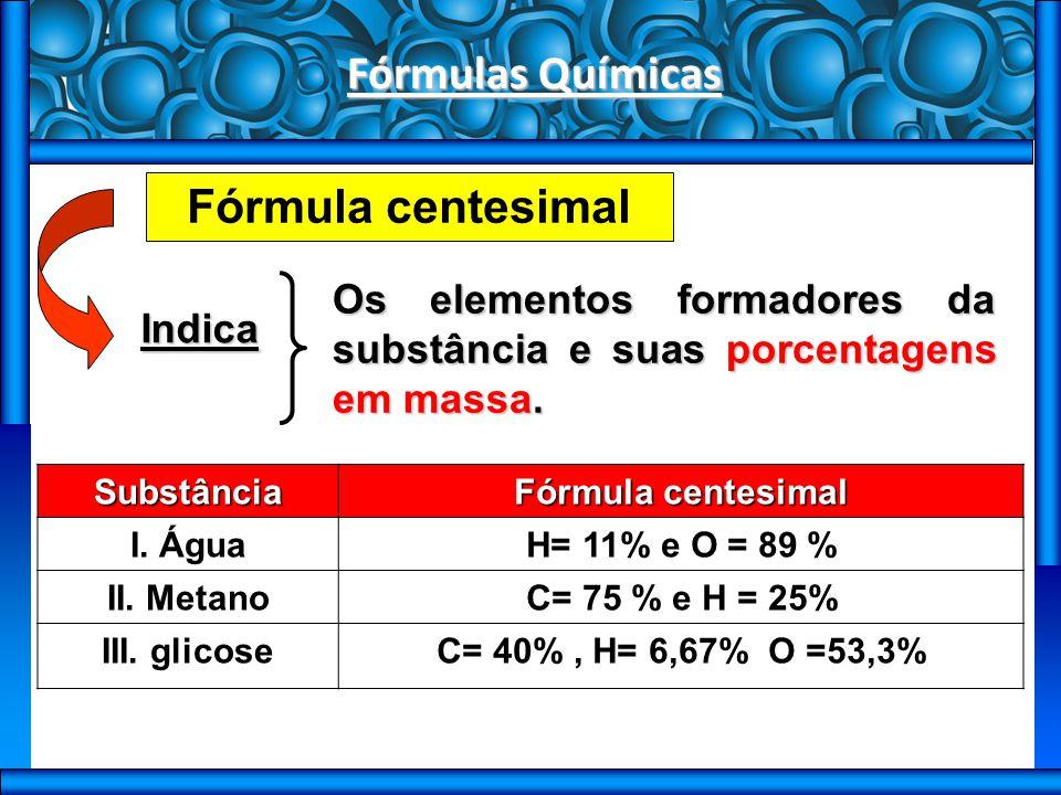 Fórmulas Químicas Conversão entre fórmulas Fórmula mínima a partir da centesimal (Ufsm 2005) As plantas necessitam de nutrientes para se desenvolverem.