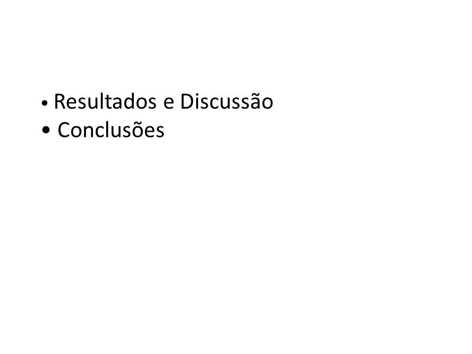 Resultados e Discussão Conclusões