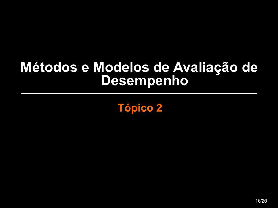Métodos e Modelos de Avaliação de Desempenho Tópico 2 16/26