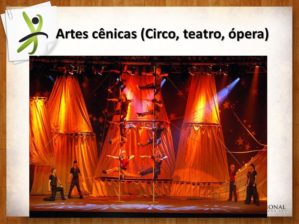 Artes cênicas (Circo, teatro, ópera)